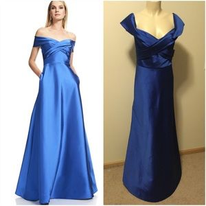 Theia Off the Shoulder Ball Gown